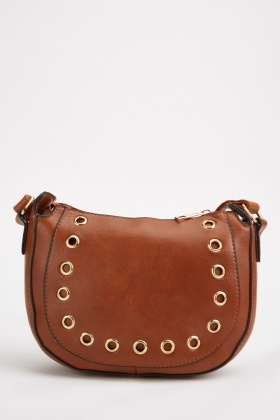 Eyelet Trim Cross-Body Bag