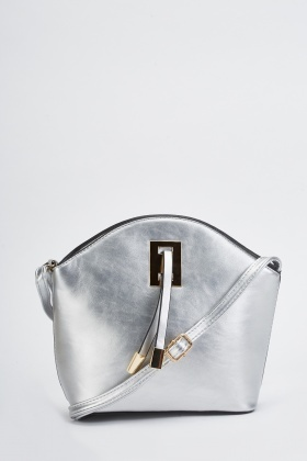 Metallic Front Detail Shoulder Bag