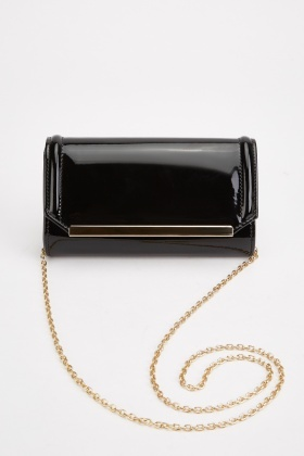 PVC Patent Clutch Bag