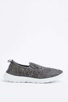 Speckled Charcoal Slip On Trainers