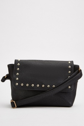 Studded Textured Cross-Body Bag