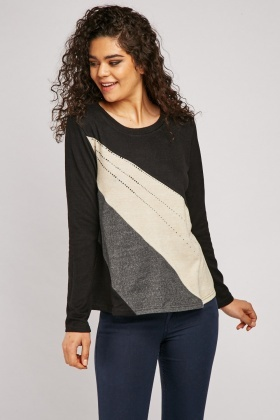 Encrusted Spiral Cut Pullover