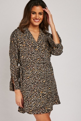 Leopard Print Tulip Dress