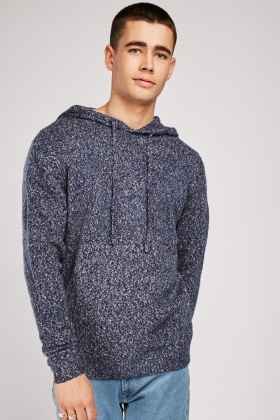 Speckled Knitted Hoodie