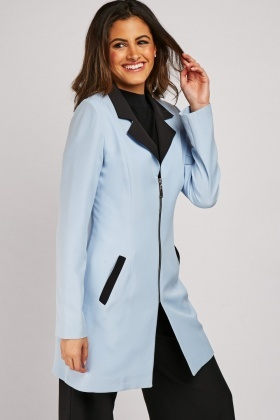 Zipper Front Colour Block Blazer