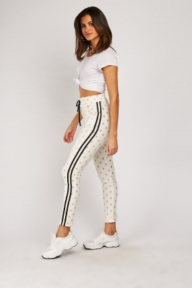 Metallic Polka Dot Jogger Pants