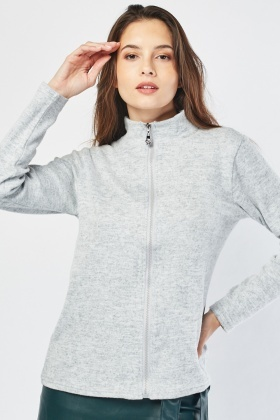 Speckled Zip Front Jacket