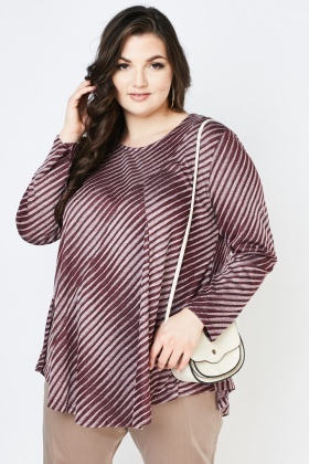 Asymmetric Striped Flared Top