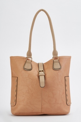 Buckle Front Tote Bag