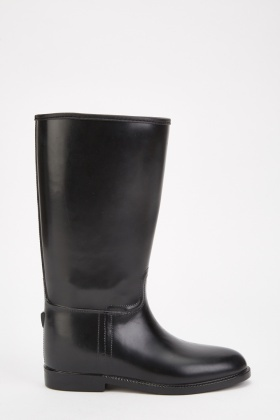 Calf Length Leather Riding Boots