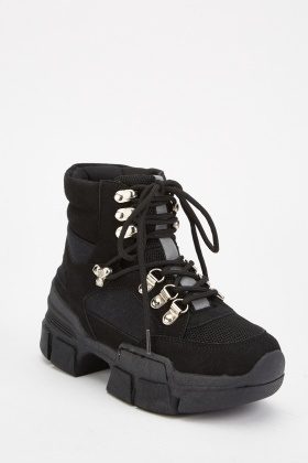 Chunky High Top Hiking Boots