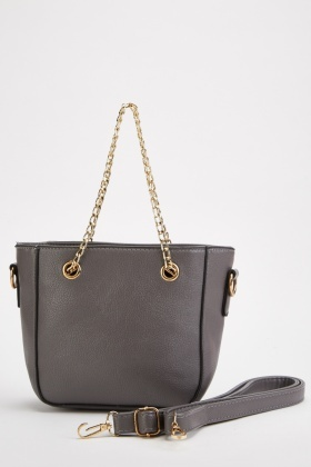 Double Chain Strap Handbag