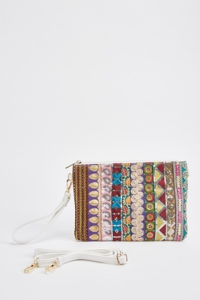 Ethnic Embroidered Pouch Bag