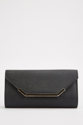 Gold Plated Trim Clutch Bag