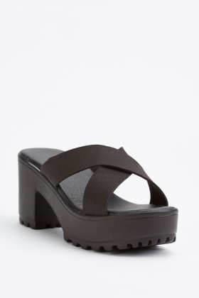 Kids Criss Cross Chunky Sandals