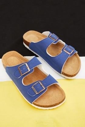 Mens Double Buckle Front Sandals