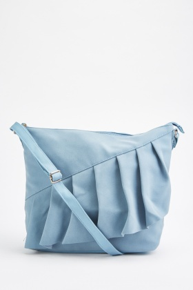 Ruffle Front Cross Body Bag