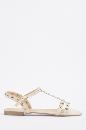 Studded Nude Sandals
