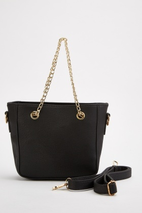 Twin Chain Strap Tote Bag