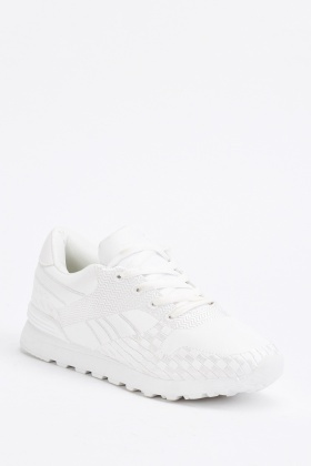 White Contrasted Trainers