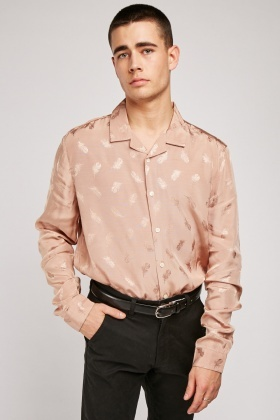 Feather Embroidered Shirt