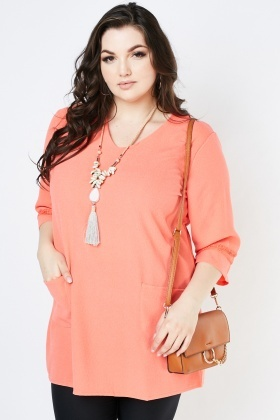 Lace Insert Tunic Top