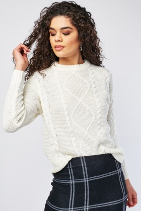 Plaited Cable Knitted Jumper