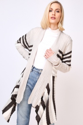 Striped Slouchy Knit Cardigan