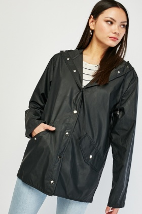 Hooded Rain Mac Jacket