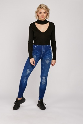 Printed High Waisted Jeggings