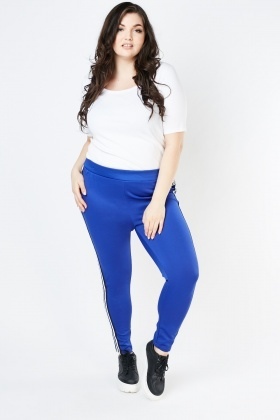 Striped Tape Side Stretchy Leggings