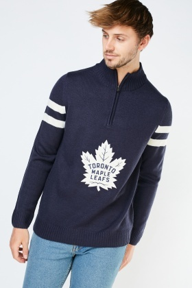 Embroidered Maple Leaf Applique Jumper