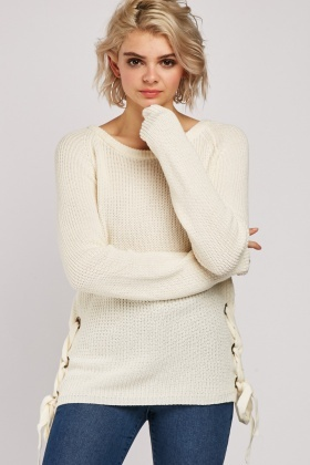 Lace Up Side Knit Jumper