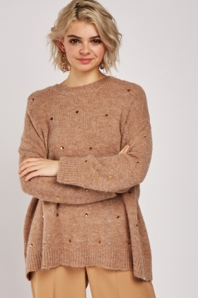 Sequin Detail Soft Knit Jumper