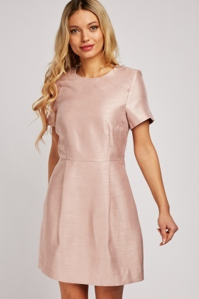 Short Sleeve Textured Pencil Dress