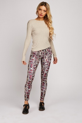Snake Print Stretchy Leggings