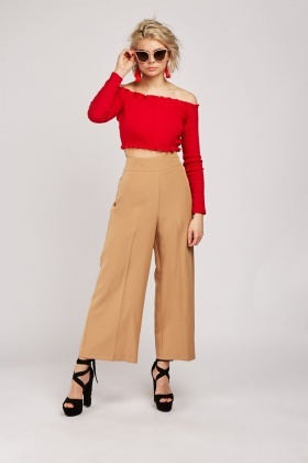 Wide Leg Classic Trousers