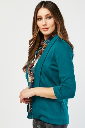 Princess Line Textured Blazer