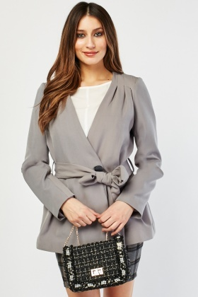 Belted Single Breasted Jacket