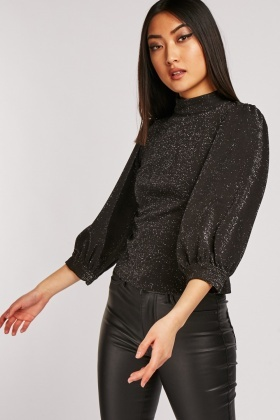 Bishop Sleeve Shimmery Top