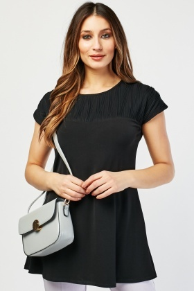 Ribbed Panel Contrasted Top
