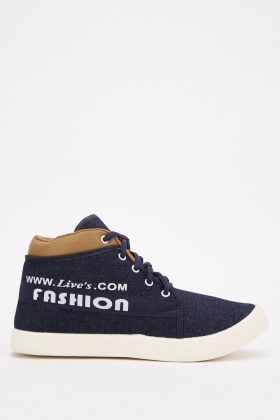 Denim Contrast Mens Sneakers