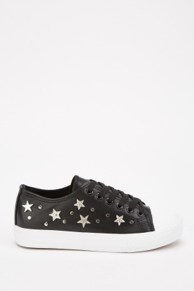 Star Studded Contrast Platform Shoes