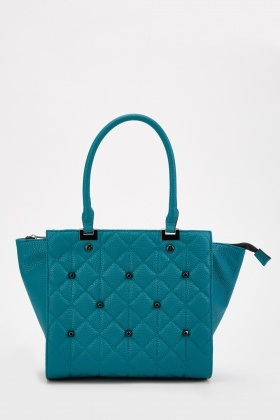 Studded Diamond Pattern Bag