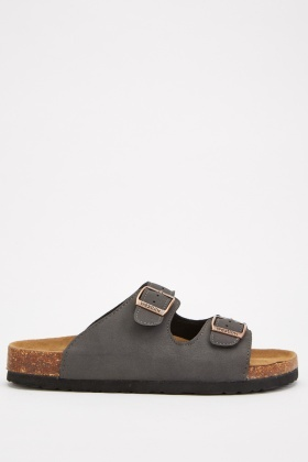 Twin Buckled Strap Sliders