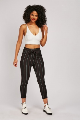 Pin Striped Skinny Fit Trousers