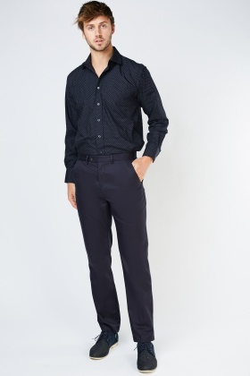 Tailored Fit Straight Cut Trousers