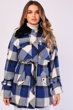 Checkered Functional Pocket Jacket