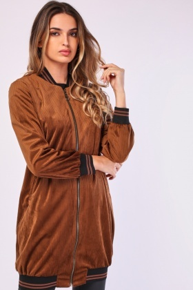 Long-Line Ribbed Cord Jacket
