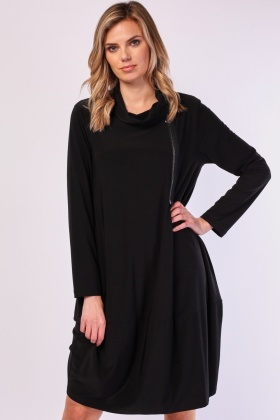 Cowl Neck Slouchy Dress